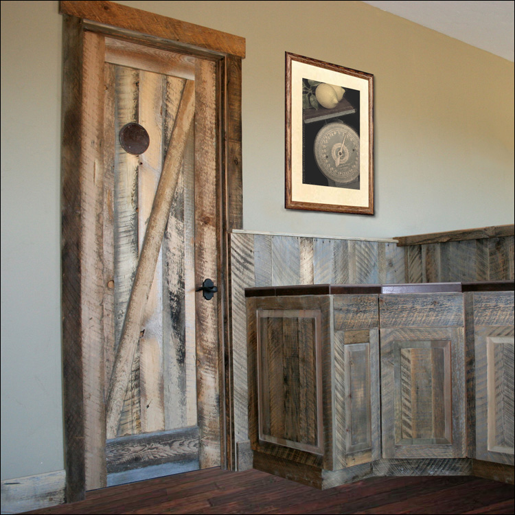 Reclaimed Barnwood Door - Reclaimed Wood Doors - Barnwood Lakeview Millworks