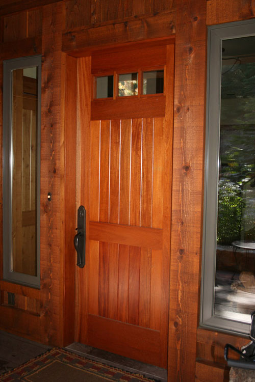 Red Brown Wood Door