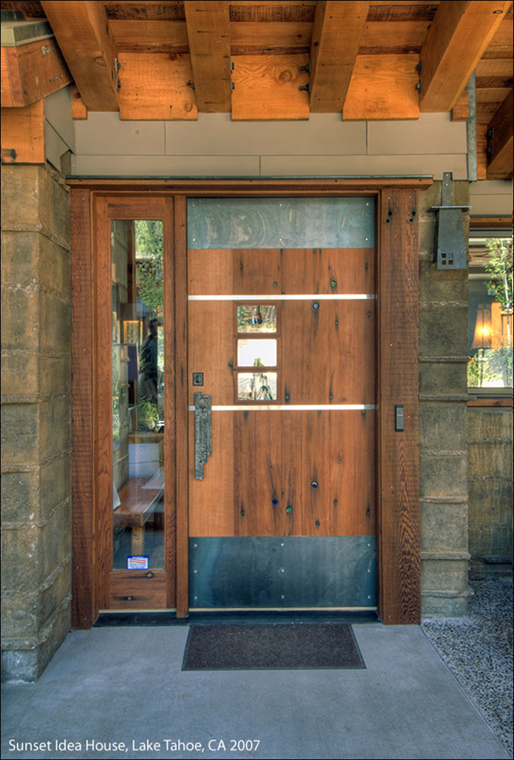 Reclaimed Redwood Door