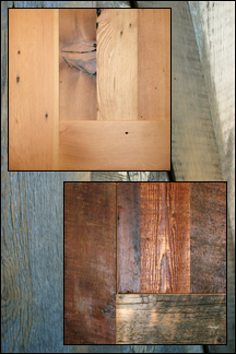 Reclaimed Wood Door Grain