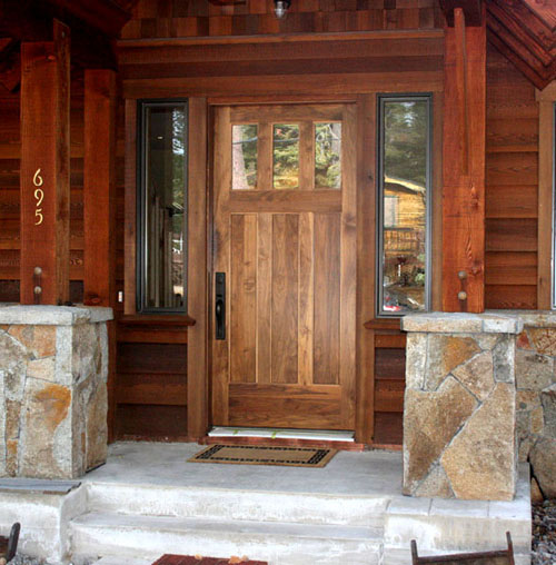 Custom doors gallery for Hardwood front doors